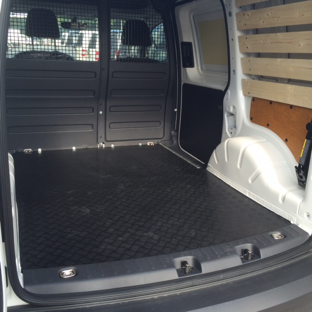 Volkswagen Caddy vloer en wandbekleding